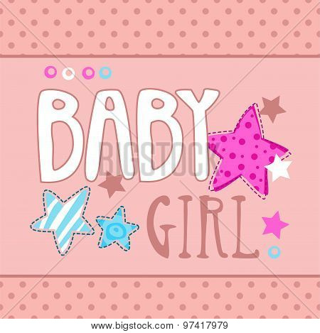 Cute baby girl vector illustration