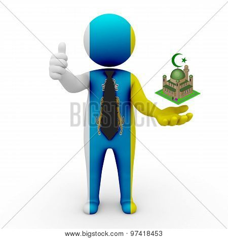 3d businessman people Canary Islands - Muslim mosque and Islam in Canary Islands