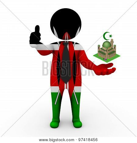 3d businessman people Kenya - Muslim mosque and Islam in Kenya