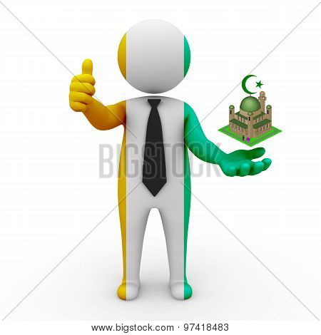 3d businessman people Ivory, Coast - Muslim mosque and Islam in Ivory, Coast