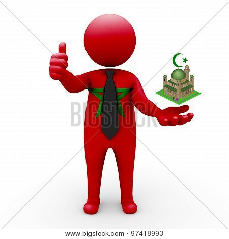 3d businessman people Morocco - Muslim mosque and Islam in Morocco