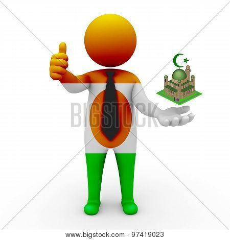 3d businessman people Niger - Muslim mosque and Islam in Niger