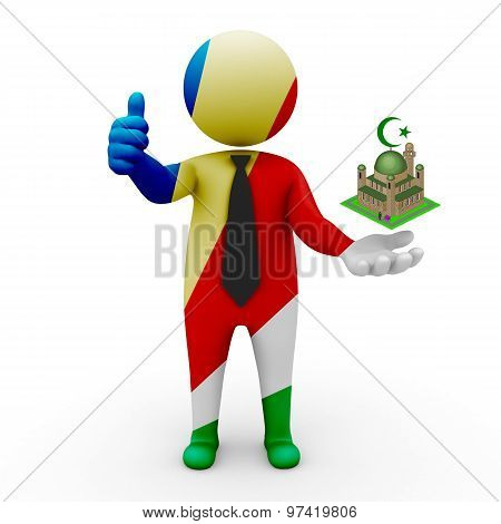 3d businessman people Seychelles - Muslim mosque and Islam in Seychelles