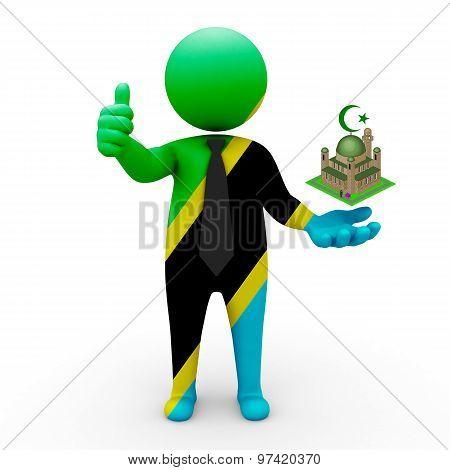 3d businessman people Tanzania - Muslim mosque and Islam in Tanzania