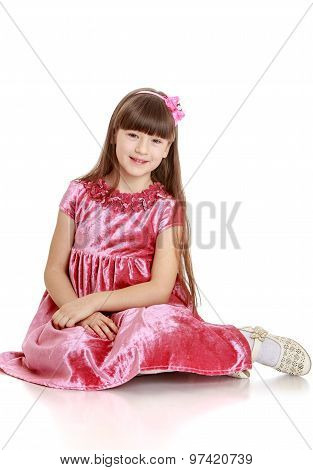 Beautiful little girl in dress