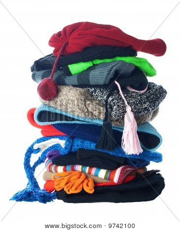 Winter Hats Stack | Isolated