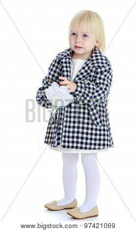 Little girl in a coat