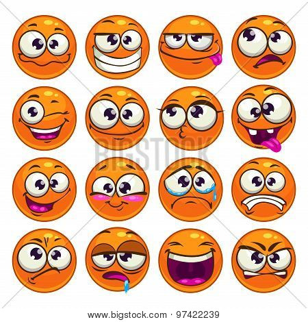 Orange cartoon round characters