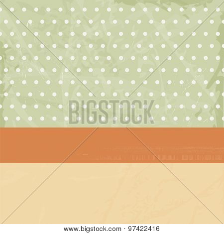Retro background abstract with dots in 50s style - vintage invitation card