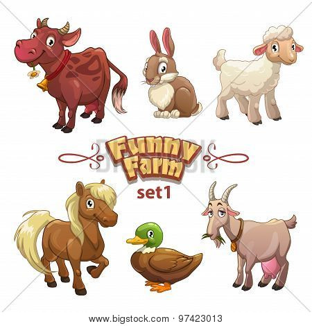 Funny farm illustration
