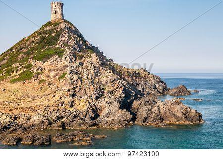 La Tour Parata. Ancient Genoese Tower. Corsica