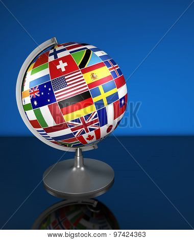 International Business School Globe Flags