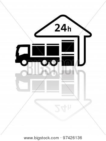 24 hour delivery symbol