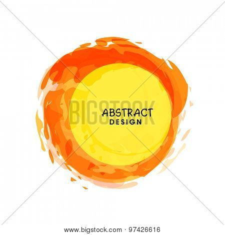 Abstract colorful rounded frame on shiny white background.