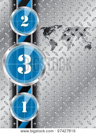 Industrial Background With Blue Countdown Timer