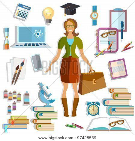 Back To School Beautiful Female Student Smile Online Training School Uniform Education Training Coll