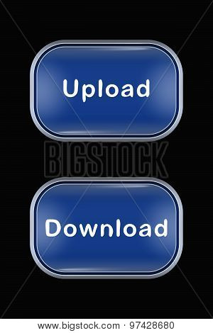 Modern Glass Buttons Upload Download