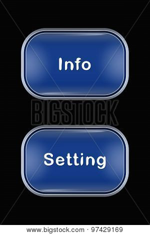 Modern Glass Buttons Info Setting