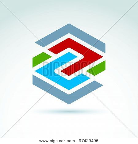Abstract geometric design element, can be used in advertising and web design. Vector
