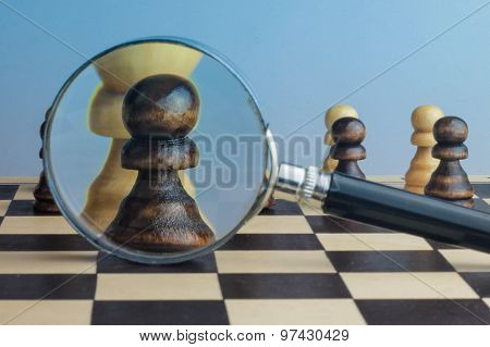 Thinking And Strategy Planning Concept Photography.