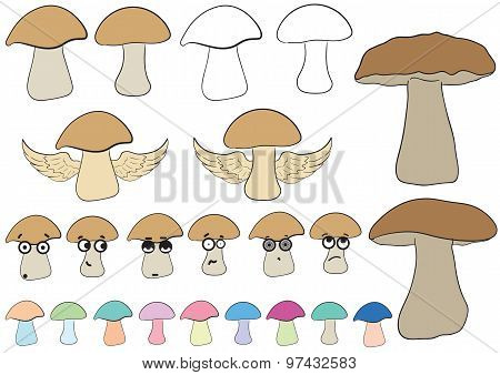 Clipart with mushrooms
