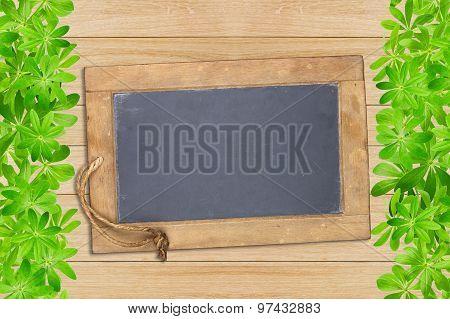 Slate Board Framed With Woodruff