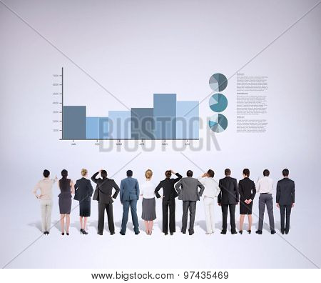 Business team against grey background