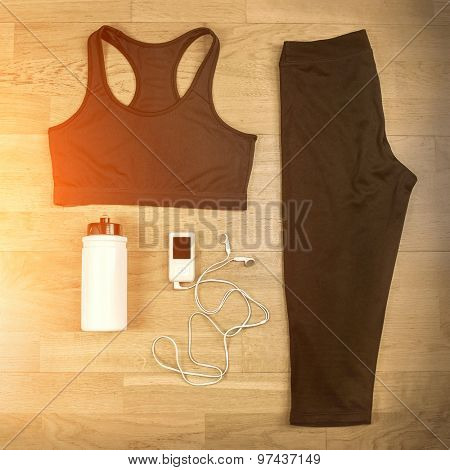 Beautiful sport set for running.