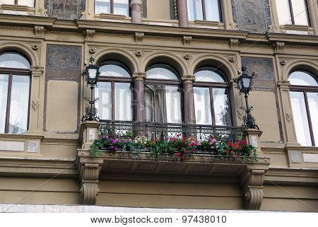 Balcony On The Old House, Vienna