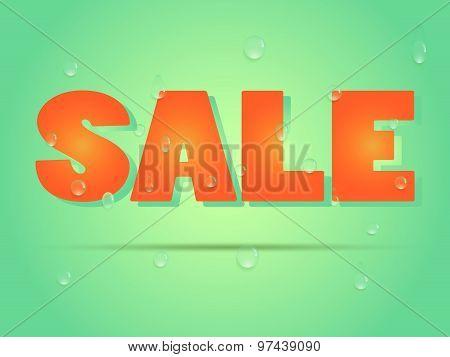 Summer Sale Vector Banner.