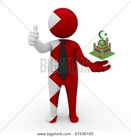3d businessman people Bahrain - Muslim mosque and Islam in Bahrain