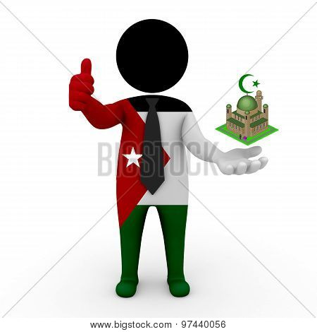 3d businessman people Jordan - Muslim mosque and Islam in Jordan