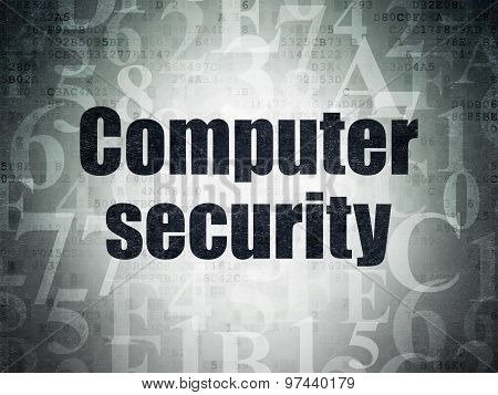 Security concept: Computer Security on Digital Paper background