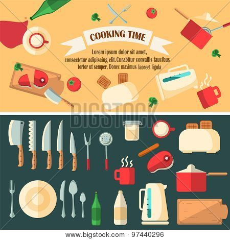 Cooking Time Vector Illustration.
