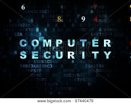 Privacy concept: Computer Security on Digital background