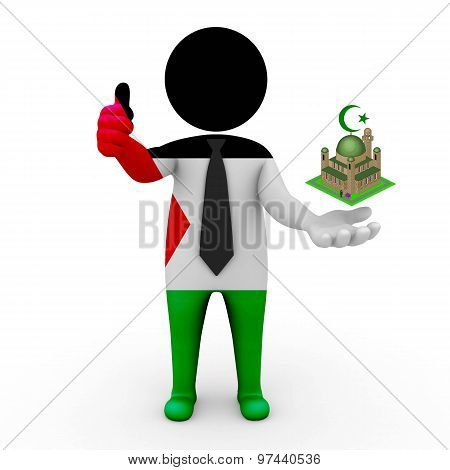 3d businessman people Palestine - Muslim mosque and Islam in Palestine