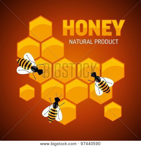 Composition of the honey bee and honeycomb