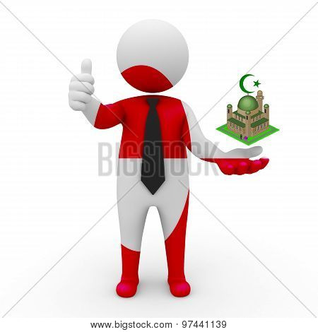 3d businessman people Greenland - Muslim mosque and Islam in Greenland