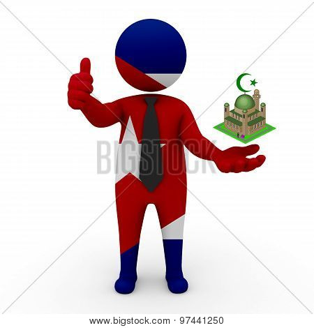 3d businessman people Cuba - Muslim mosque and Islam in Cuba