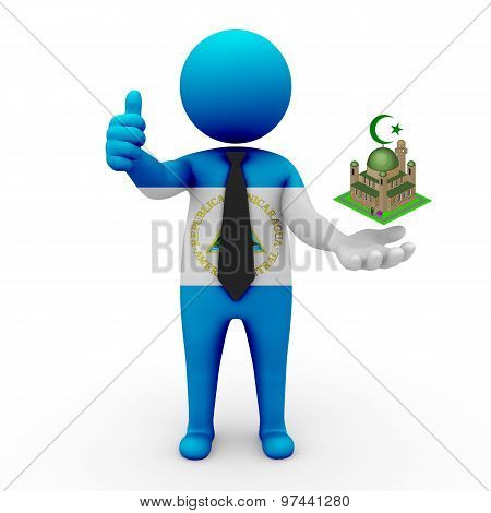 3d businessman people Nicaragua - Muslim mosque and Islam in Nicaragua