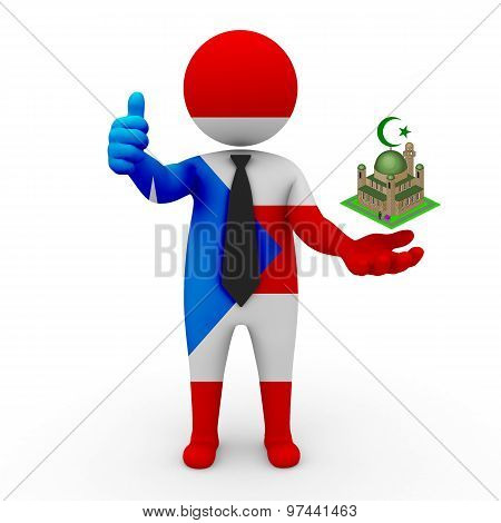 3d businessman people Puerto-Rico - Muslim mosque and Islam in Puerto-Rico