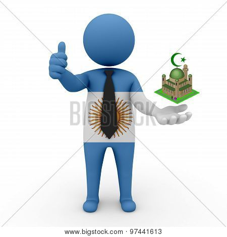 3d businessman people Argentina - Muslim mosque and Islam in Argentina