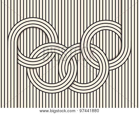 Abstract line art illustration.