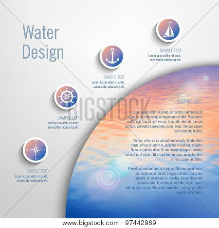 Vector marine template