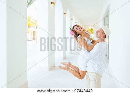 Happiness And Romantic Scene Of Love Couples Partners
