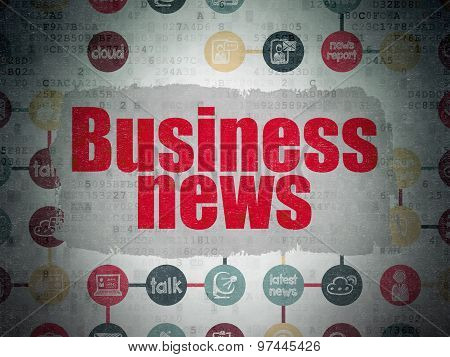 News concept: Business News on Digital Paper background
