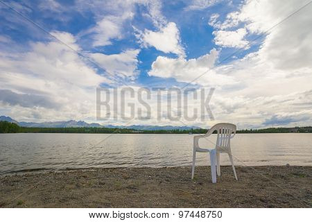 Relaxing View Of Alaska Lake