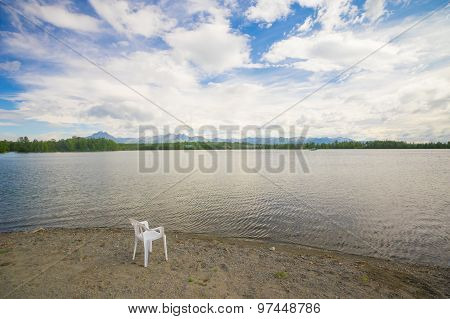 View From Chair On Lake