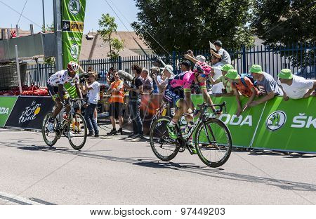 Two Cyclists Of The Breakaway - Tour De France 2015