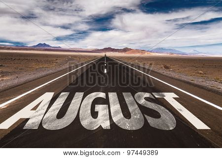 August written on a desert road